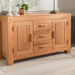 Oregon 3 Drawer 2 Door Sideboard The Beautiful Oregon Oak 3 Drawer