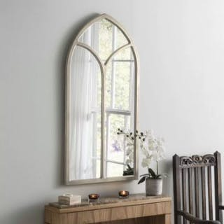 Chapel Accent Mirror Accent mirror Arch/Crowned top wood frame mirror