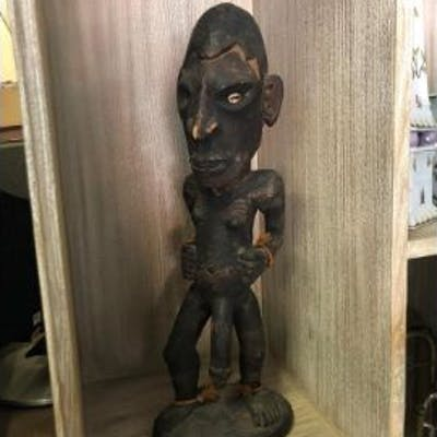 African Carving Men Fertility Statue 52cm
