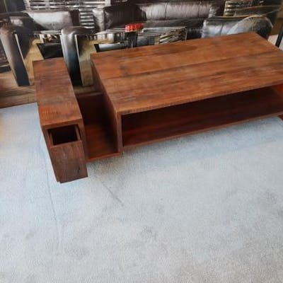 Hand Crafted Exotic Solid Hardwood Coffee Table The Avett Balances