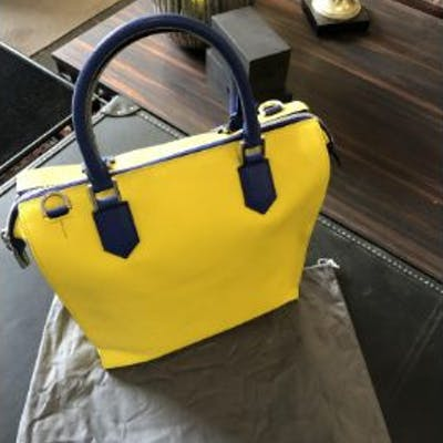 Mark Giusti Granada Leather Tote Bag Granada All Yellow Leather Tote