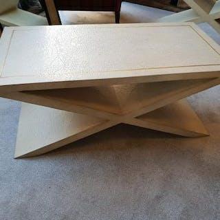 Andrew Martin Vita Coffee Table An Elegant x Leg Neutral Coffee Table