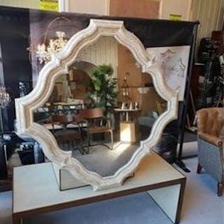 Whitney Antiqued Wall Mirror Simple And Elegant The Undulating Rhythm