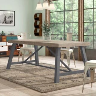 Urban Dining Table An Industrial Inspired Piece Fusing Together Organic
