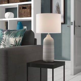 Rib 49.5cm Table Lamp Beautiful Soft Ombre Ceramic Lamp Colours Flow