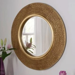 Beaded Accent Mirror A simple yet stunning design this mirror is made