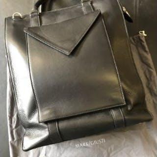 Mark Giusti Venice Black Leather Tote Bag With Ipad Case Venice RRP