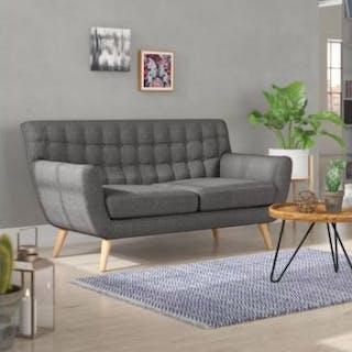 Scandii 3 Seater Sofa Scandinavian Inspired Retro Styling 3 Seater