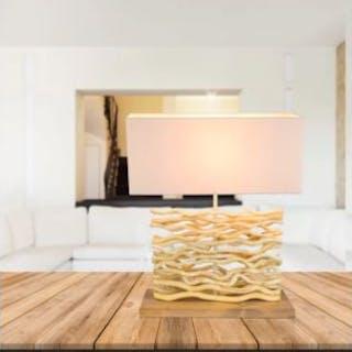 Shore 50cm Table Lamp Natural Wood Lamp Beautiful Light Reflection