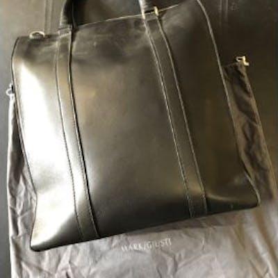 Mark Giusti Venice Black Leather Tote Bag With Ipad Case Venice RRP
