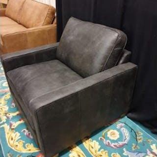 Farringdon 1 Seater Sofa Armchair Churchill Ebony Leather 101 x 100 x 89cm