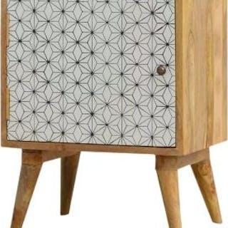 Scandi Bedside Table Single Door Scandinavian Inspired Bedside Chest