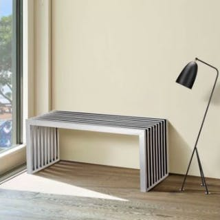 Austere Metal Kitchen Bench Straight Shapes Of Austere Elegance Made