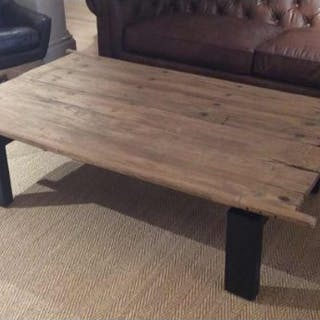 Blacksmith Coffee Table Reclaimed Chinese Doors Transformed Into Furniture
