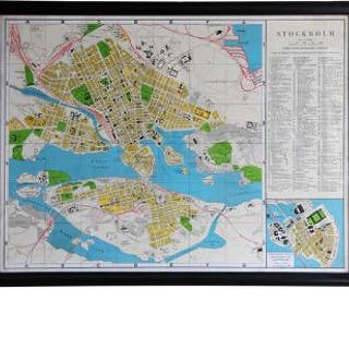Capital Map Stockholm These Unframed City Maps Pay Homage To Each