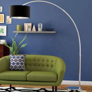 Arched 209cm Lamp With its arc design and sleek black shade, this