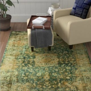 Persian Inspired Green Rug Your home is a place full of objects rich