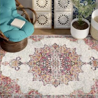 Beige Pink Rug Gallery-worthy grace isn't only found in artful canvas