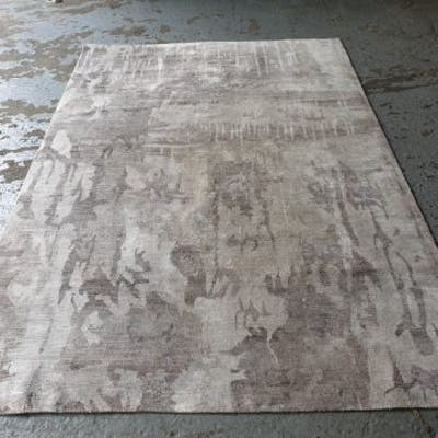 Beige Pattern Viscose Mix Area Rug 1670 2400mm