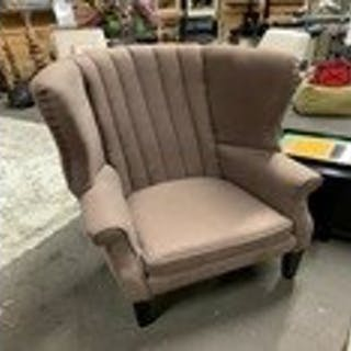 Eichholtz Relax Wing Back Upholstered Chair The Deep Channel Tufted