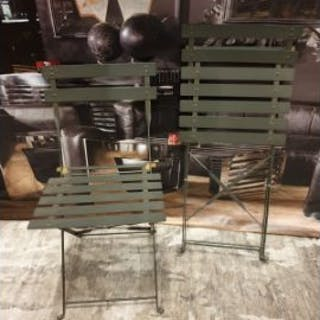 2 X Metal Folding Chairs 42 X 37 X 80