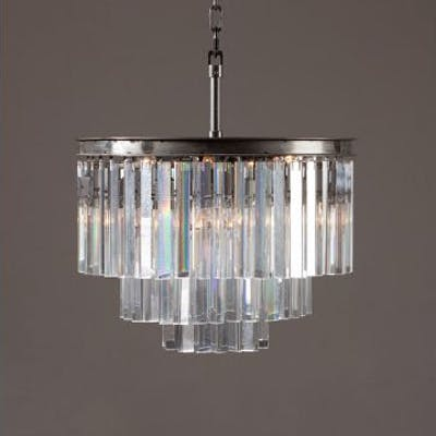 Odeon 3 Ring Chandelier Uk The Lighting Collection
