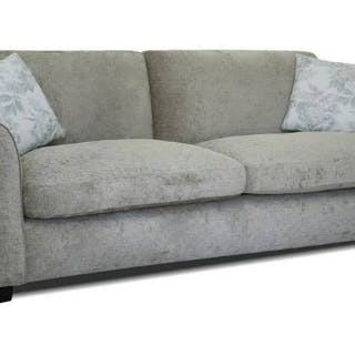 Knightsbridge Upholstered Mink 4 Seater Sofa upholstered in soft textured