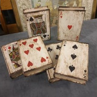 Vintage Playing Card Book Boxes