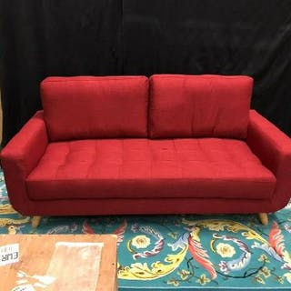 Vintage Upholstered 3 Seater Sofa