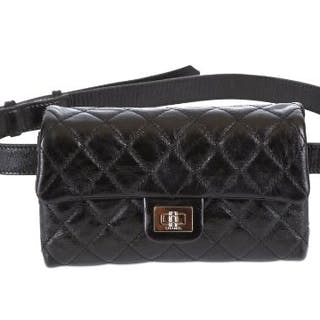 dd250f400341 Chanel Black Reissue Mini Waist Bag, c. 2008-09, quilted leather with –  Current sales – Barnebys.co.uk