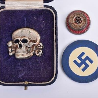Allgemeine-SS Peaked Cap Skull | Barnebys