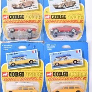 Four Corgi Juniors Whizzwheels