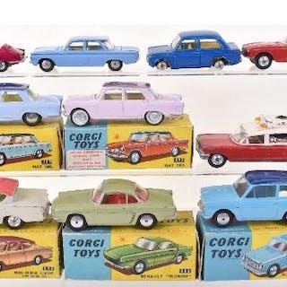 Ten Vintage Corgi Toys