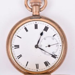 "An early 20th century ""Star"" gold plated full hunter pocket watch"