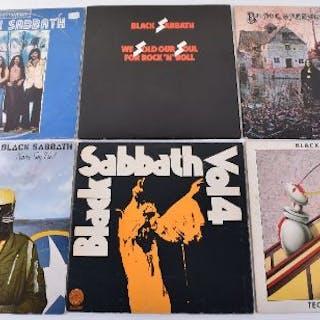 Six Black Sabbath LP's