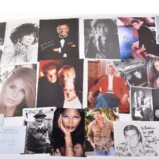 A number of signed original and copied photographs, including Frank