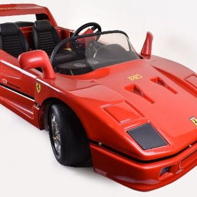 Scarce Tt Toys Toys Italy Battery Powered Ferrari F40 Childs Toy Car Barnebys