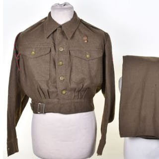 WW2 ATS Battle Dress Uniform Set