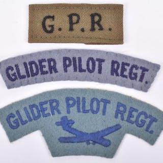 WW2 Glider Pilot Regiment Cloth Shoulder Title