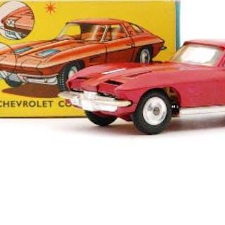 A Corgi Toys #310 Chevrolet Corvette Stingray diecast model in metallic
