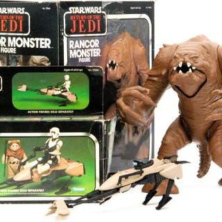 Kenner Star Wars Return of the Jedi, a boxed Rancor Monster and a