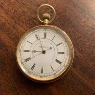 Gents 18ct gold pocket watch by J Hargeaves Liverpool