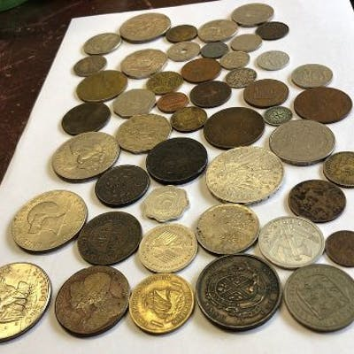 Various American and continental coinage (47) together with a 1 dollar