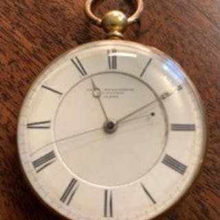Gents 18ct gold pocket watch by Jos. Penlington Liverpool
