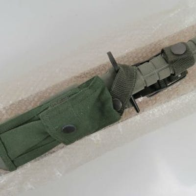 A current US Military Issue M9 bayonet for the M16/ M4