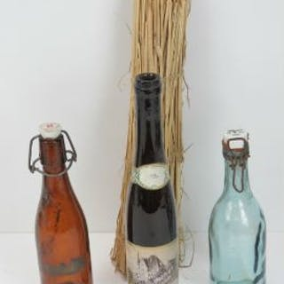 Three WWII German bottles, found in French barn.