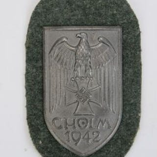 A WWII German Cholm Shield military decoration awarded to those who
