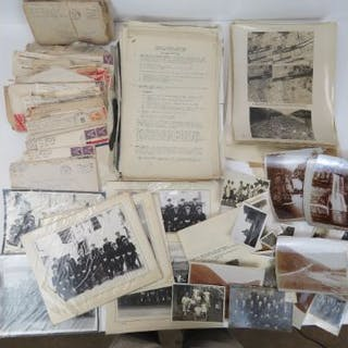 A quantity of WWII Royal Intelligence Corp and Royal Navy photographs