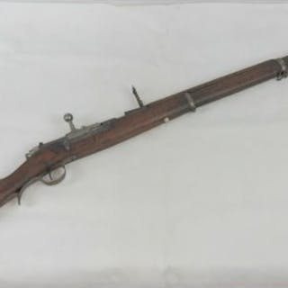 An Austrian Steyr M1886 Kropatchek 8mm rifle, in deactivated condition.