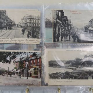 A quantity of early 20th century vintage postcards, mostly topographical